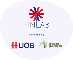 Finlab, UOB and Infocomm Investments logos