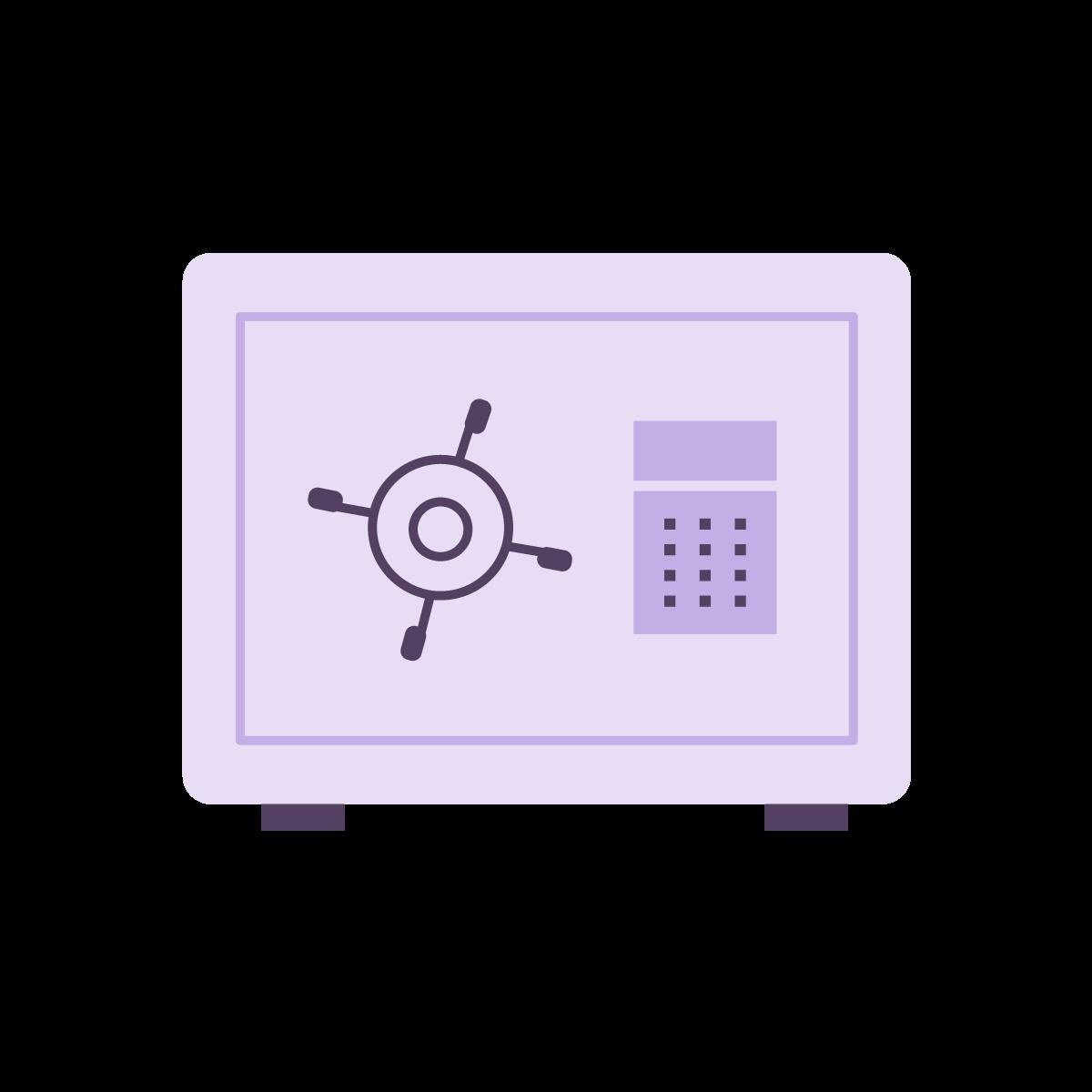 Icon of safe box